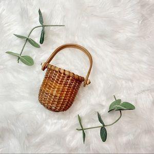 Mini Boho Basket with Handle